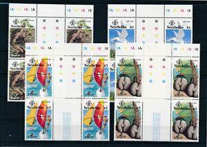 [G27864] Seychelles 1985 4x good set very fine MNH stamps