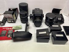 Mamiya M645 Camera with 3 Lenses Accessories