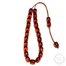 Amber Resin 23 beads 11x14mm Komboloi - Authentic Handmade Worry Beads - Rosary