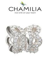 Genuine chamilia & Plata Esterlina 925 Swarovski brillo mariposa encanto grano