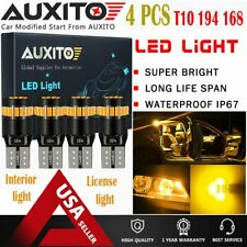 4X AUXITO T10 Wedge CANBUS 194 168 921 2825 W5W Amber Yellow LED Light Bulbs EA