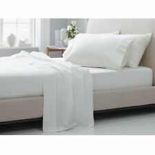Soft & Silky 4 Pcs Bed Sheet Set 100% Cotton 600 Thread-Count White Solid