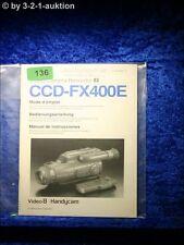 Sony Bedienungsanleitung CCD FX400 Video 8 Camera Recorder (#0136)