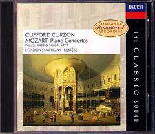 Clifford Curzon: Mozart PIANO CONCERTO 23 24 Kertesz CD DECCA Classic Sound