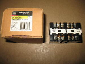 GE CR120C02202AA LATCHED INDUSTRIAL RELAY 10A 115V COIL 2NO 2NC