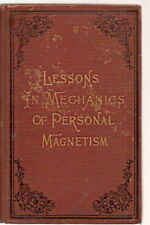 Lessons mechanics Personal magnetism SHAFTESBURY 1888