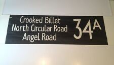 """London Bus Blind Stow88 (42"""") 34a Crooked Billet North Circular Road Angel Road"""