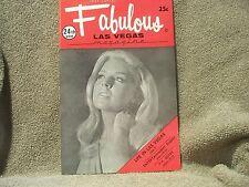 Fabulous Las Vegas Magazine Pat Cooper Patty Booth Trini Lopez Bayley 10/2/1971