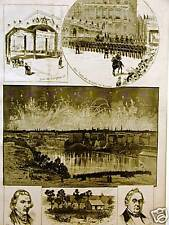 ROCHESTER NY INCORPORATION CELEBRATION 1884 Antique Art Matted