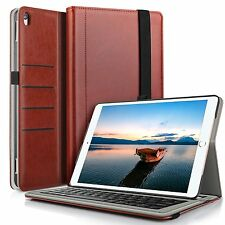 Apple ipad Pro 10.5 Bluetooth Keyboard Case Stand Cover + Pencil Holder Brown