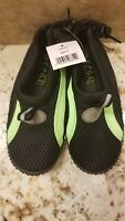 Ecsa Childrens Aqua Shoes Size 11 - New w/Tags - Green & Black Mesh, Rubber Sole