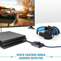 3.5mm Stereo For Headset Laptop PC Mic PS4 External USB Sound Card Audio Adapter