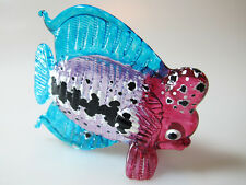 Murano Style Craft Miniature Hand Blown Glass Fish Figurine Home Decor