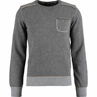 New Paul & Shark Men's Jumper RRP £255 100% Virgin Lambswool Grey Sweater wool
