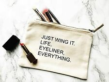 Wing it Make Up Bag/Pouch-Christmas-Birthday Gift - Mum/Sister/Friend - Eyeliner