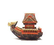 Japanese Kutani Satsuma Dragon Boat Pagoda Incense Burner Koro