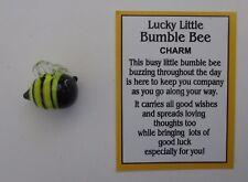 i LUCKY Little bumble bee glass CHARM miniature figurine ganz bumblebee luck