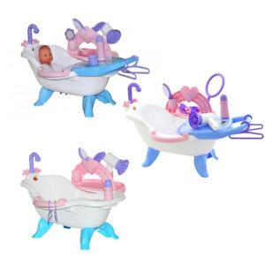 Coloma Puppenbadewanne Puppen Badewanne Puppenwanne mit Zubehör Fön Puppe NEU