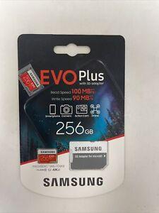Samsung EVO Plus MicroSD C10 MB-MC256H 256GB Memory Card w/ SD Adapter NEW