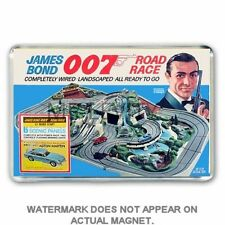 RETRO JAMES BOND ROAD RACE (not SCALEXTRIC) BOX ART JUMBO FRIDGE /LOCKER MAGNET