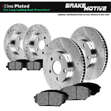Front+Rear Rotors Metallic Pads For 2006 2007 - 2010 Grand Cherokee Commander