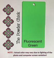 Single Coat Fluorescent Green 49/51340 Powder Coating Paint 1lb Bag NEW