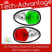 12V STAINLESS STEEL NAVIGATION YACHT BOAT PORT & STARBOARD WATERPROOF LED LIGHTS