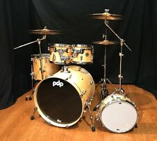 PDP Concept Maple 5-Piece Shell Pack-Natural Lacquer, Zildjian ZBT Cymbals-NA