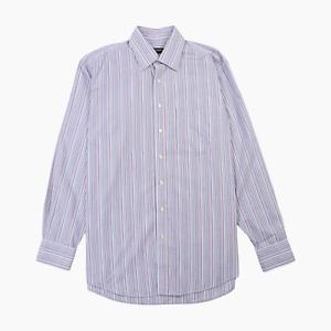 Balmain Homme Mens Long Sleeve Cotton Candy Stripe Shirt 16 41 Smart Dress Pink
