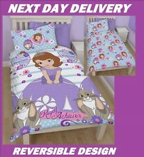 DISNEY PRINCESS SOFIA THE FIRST DOONA QUILT DUVET COVER SET,SINGLE, REVERSIBLE