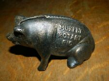 Murphy Rotary Pig Advertising Statue Farm Pig  Dime Penny Bank Cast Iron