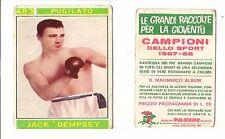 1967 Panini Campioni BOXE JACK DEMPSEY RARE RRRRR 1967