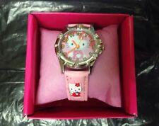 Ladies/Girl's Hello Kitty Cartoon/Novelty Analog Watch Pink Leather Strap