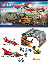 New AIRPORT AIR SHOW Lego 60103 Hangar JETS Biplane Airplane PILOT 6 Minifigures