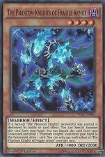 YU-GI-OH CARD: THE PHANTOM KNIGHTS OF FRAGILE ARMOR SUPER RARE WIRA-EN005 1ST ED