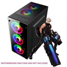 Gaming Computer PC Case For ATX/M-ATX/Mini  ITX Desktop Mainframe Case US Stock