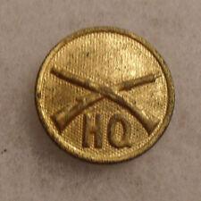 """1930'S Gilt I Em Infantry With """"Hq"""" Below Brass Screw Back"""