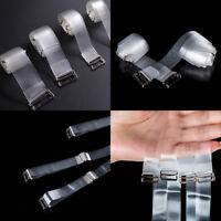 2 Pairs Invisible Clear Adjustable Bra Shoulder Straps Transparent Removable US