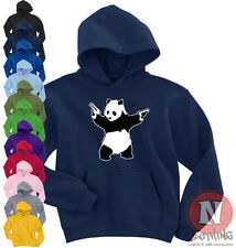 Banksy Panda with guns urban art graffiti Hoodie Pandamonium Bristol grafitti
