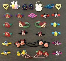 Disney Hair Barrettes Clips Ties Little Mermaid Mickey Minnie 80s 90s Lot Of 28