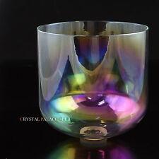 "Cosmic Light Quartz Crystal Singing Bowl Note F 3rd Octave Throat Chakra 8"""