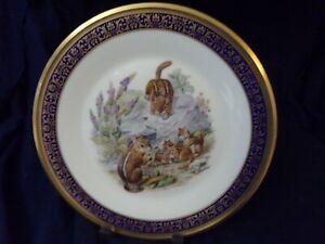 1976 Lenox Woodland Wildlife Eastern Chipmunks Decorative Plate Made in USA.