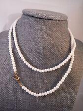 Vintage Necklace TRIFARI HANGING T WHITE BEAD Costume Jewelry Heaven Box K