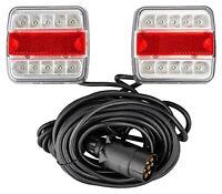 LED Beleuchtungsset Rückleuchtensatz fertig verkabelt für PKW Anhänger Trailer