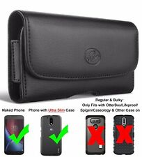 Belt Clip Loop leather Holster pouch case Phone Holder FOR Motorola Moto G7 Play