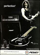 Eddie Van Halen Signature Peavey EVH Wolfgang Guitar and 5150 Amp 1999 ad print