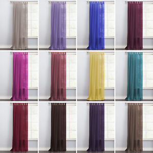 Clearance Cheap Single Plain Tab-Top Voile Net Curtain Sheer Panel-Free Postage