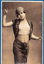 large vintage photo sexy arab belly dancer girl danse ethnic Tunis Tunisie 1906