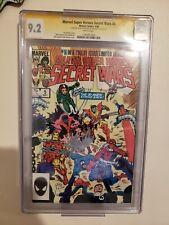 Marvel Super Heroes Secret Wars #5 Signed Stan Lee & Beatty Autograph CGC SS 9.2