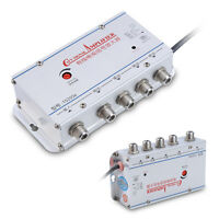 Home AC 4-Way Output CATV Cable TV Antenna Signal Amplifier AMP Booster Splitter